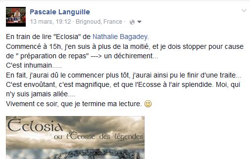 commentaire Pascale Languille en cours de lecture d'Eclo