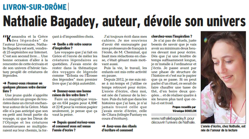 retours sur Kassandra - article Dauphiné
