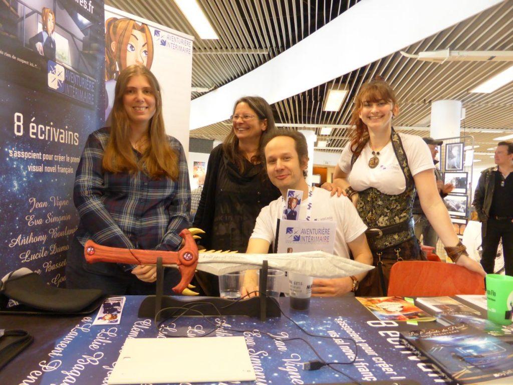 De gauche à droite : Eva Simonin, Luce Basseterre, Laurent Pendarias, Lucile Dumont