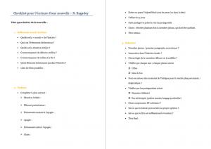 Comment écrire une nouvelle - miniature checklist écrire nouvelle