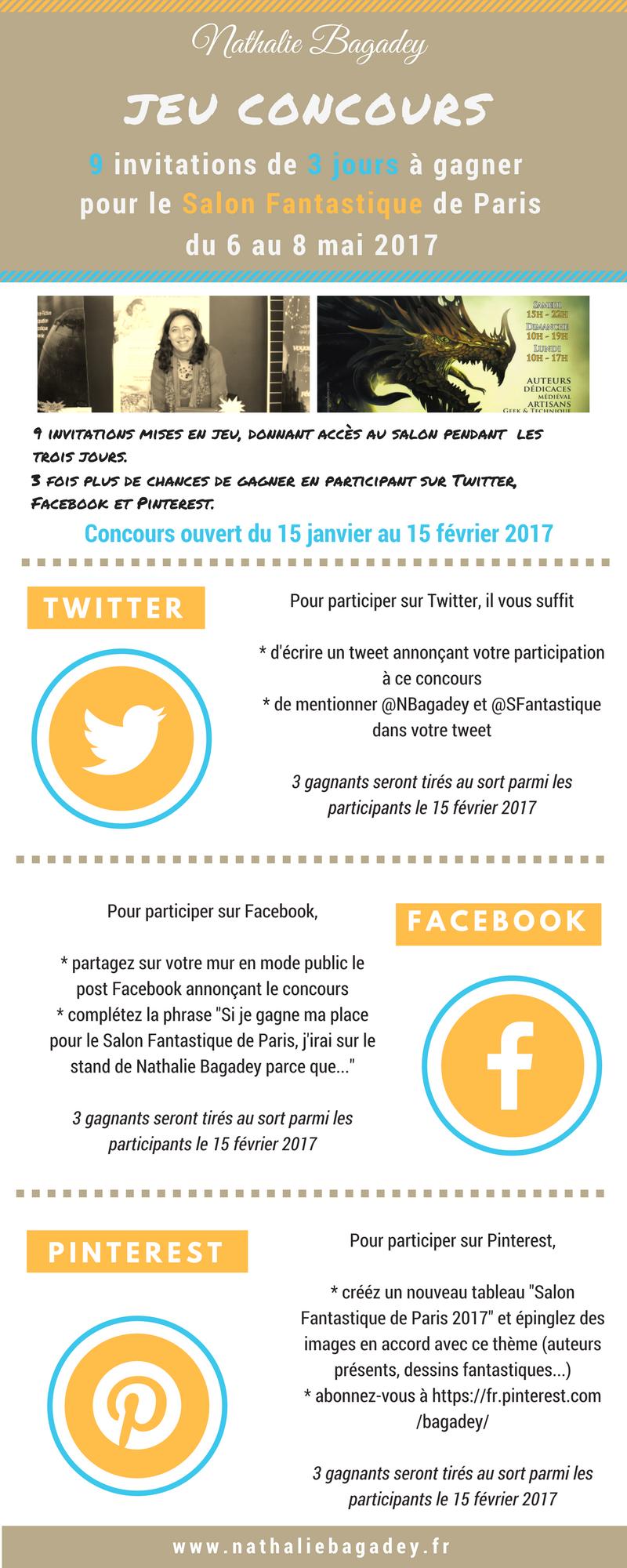 Jeu concours Salon Fantastique 2017 - conditions de participation