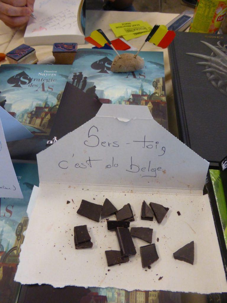 stand attractif - humour chocolat belge