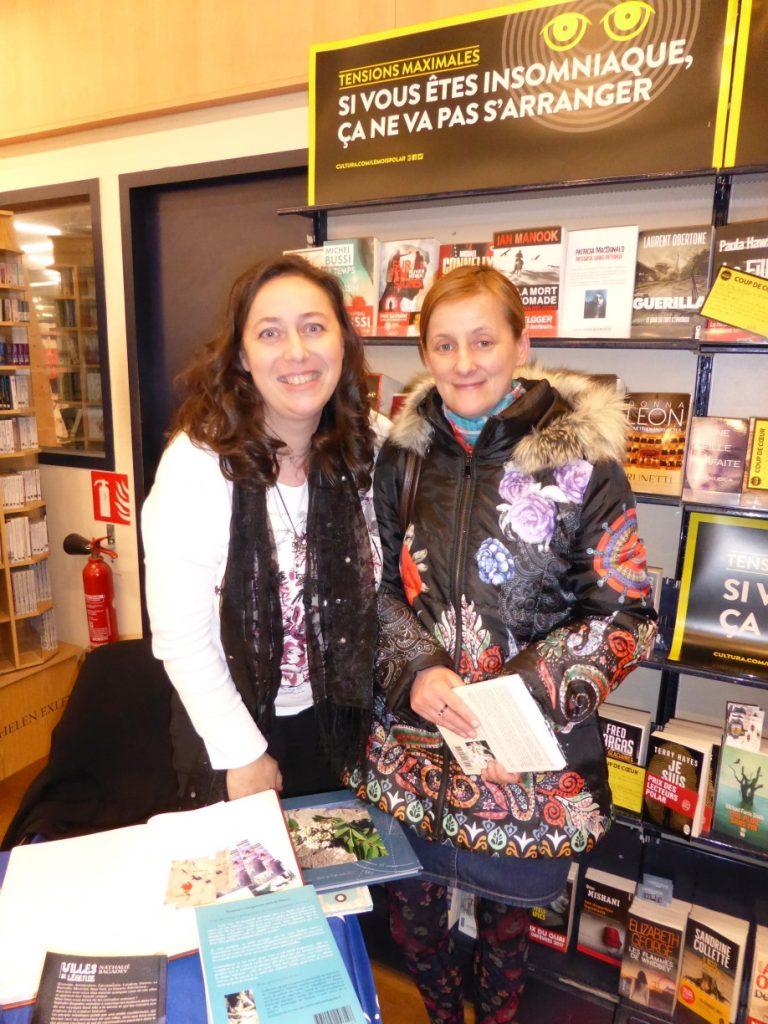 """dédicaces au Cultura Valence - avec Cathy pour """"Eclosia ou l'Ecosse des légendes"""""""