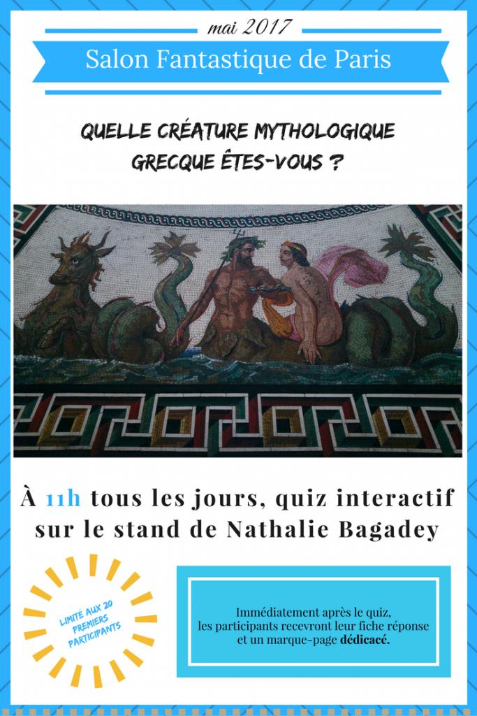 test créatures mythologiques grecques - affiche Salon Fantastique