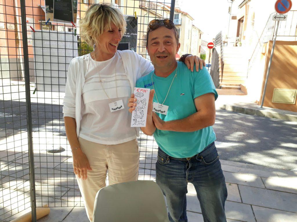 Après-Salon : mes deux voisins, Ema Dol et Laurent Bret