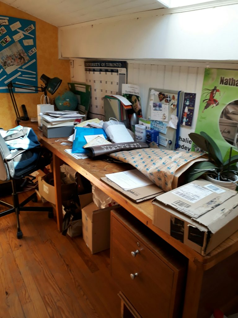 Bureau écriture blogging
