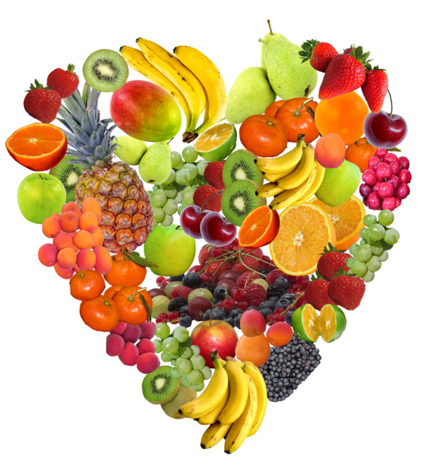 défi pangramme - image cœur fruits exotiques